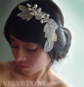 Bridal Hair Piece from Velvetowl